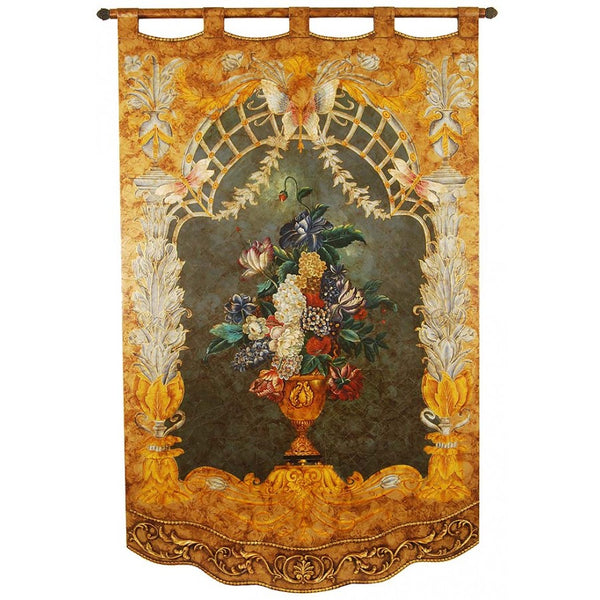 "Hand Painted Tapestry Panel - 54""W X 84""H LH04"