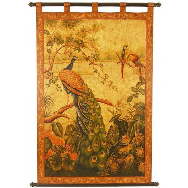 "Hand Painted Tapestry Panel - 41""W X 63""H LH07"