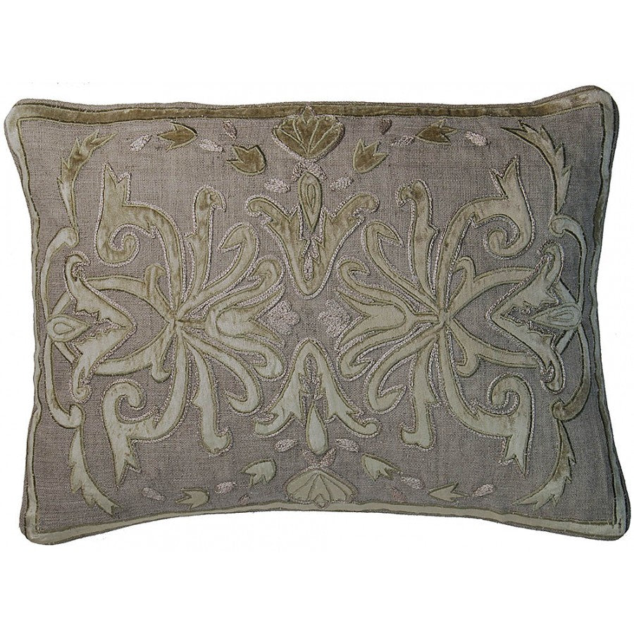 "Lovecup Velvet Applique Pillow 14"" x 20"" LEH06L"