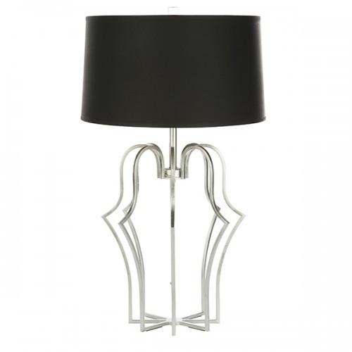 Aidan Gray Sandra Table Lamp, Silver, Set of 2, L804 - LOVECUP