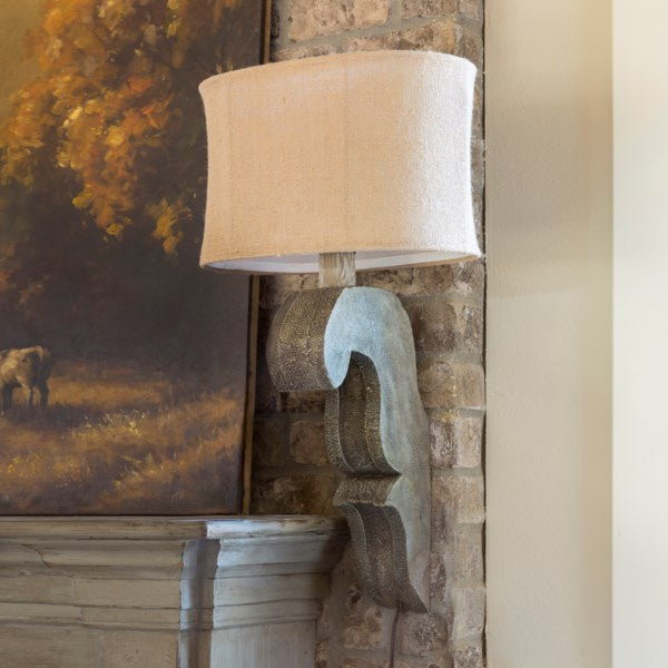 Lovecup Corbel and Burlap Wall Sconce L002