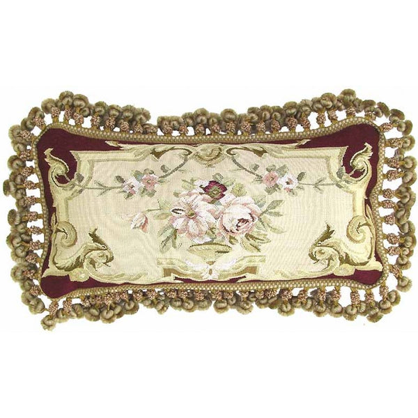 Lovecup Silk Aubusson Pillow 24in X 12in (WxH) L202-5