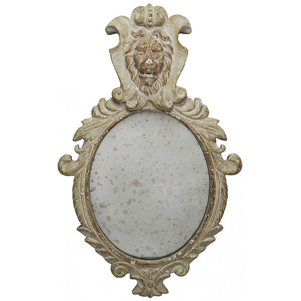 Lovecup Faux Wood Lion Head Antiqued Mirror LF02