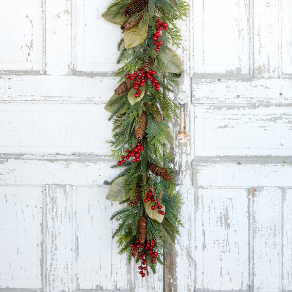 "Lovecup 72"" Twig Garland Embellished with Festive Hand-crafted Berries L2138"