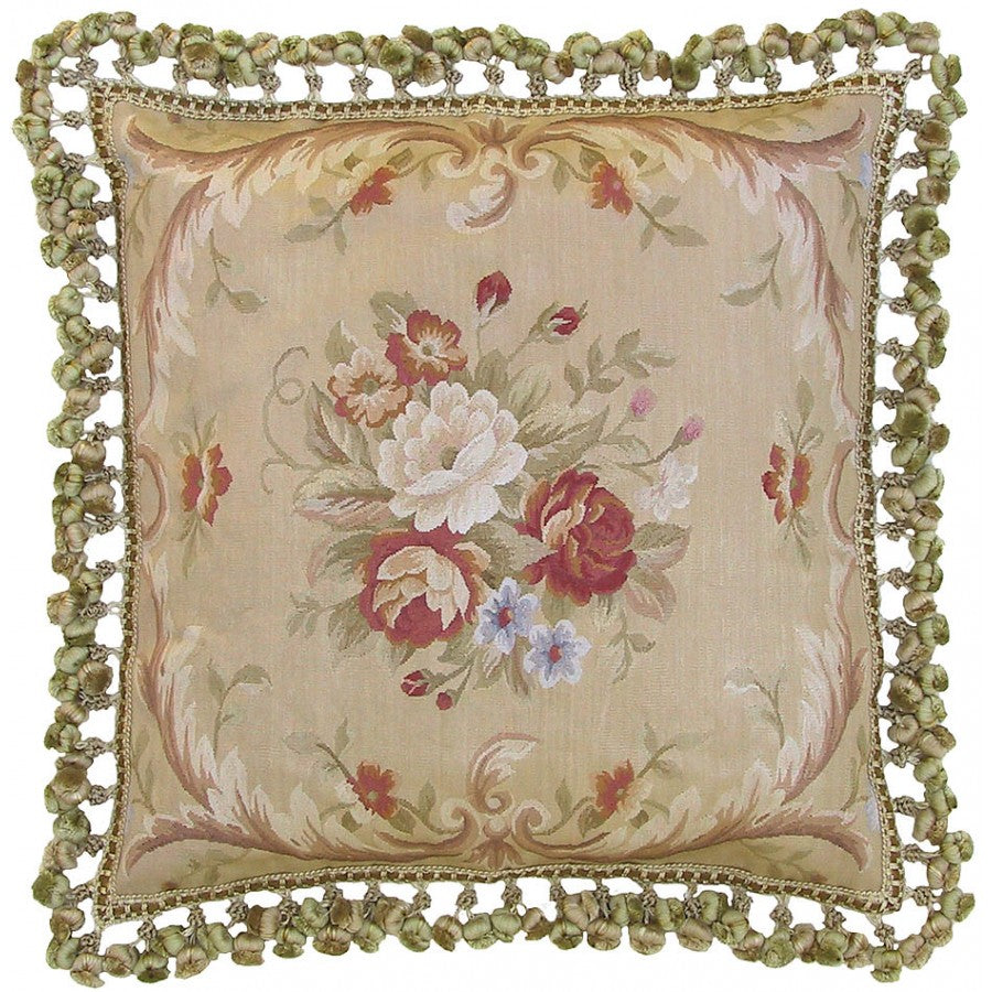 Lovecup Silk Aubusson Pillow 22in X 22in (WxH) L109