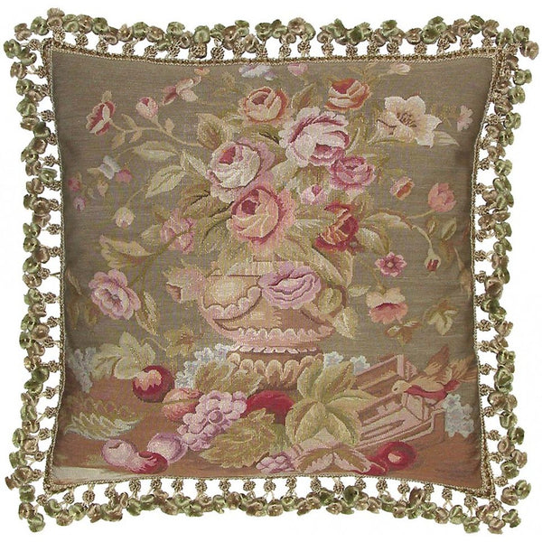 Lovecup Silk Aubusson Pillow 22in X 22in (WxH) L111