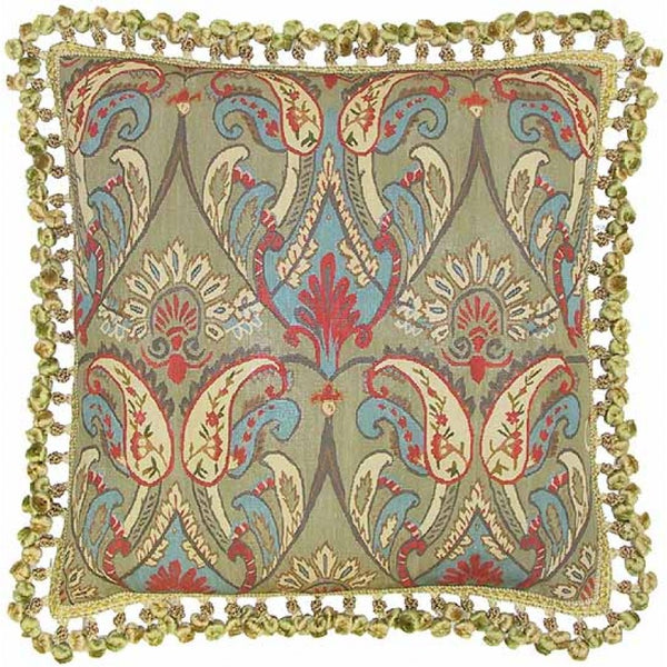 Lovecup Silk Aubusson Pillow 22in X 22in (WxH) L049