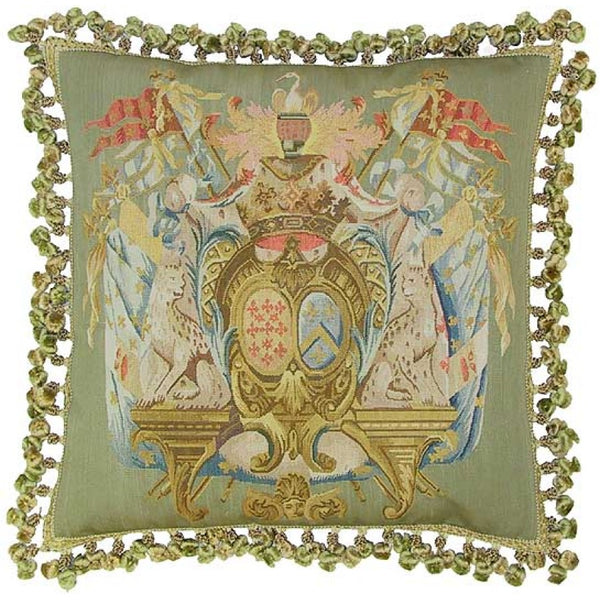 Lovecup Silk Aubusson Pillow 22in X 22in (WxH) L050C