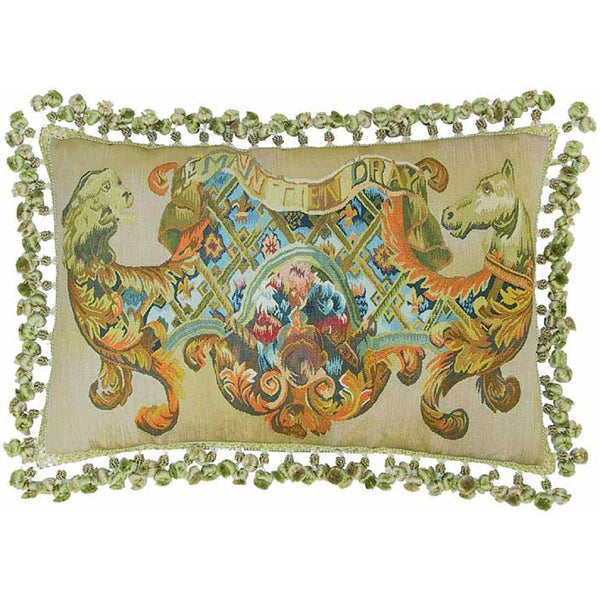 Lovecup Silk Aubusson Pillow 24in X 16in (WxH) L052