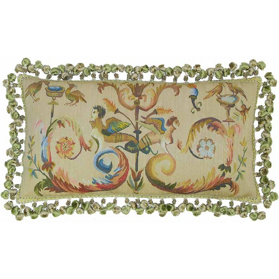 Lovecup Silk Aubusson Pillow 24in X 12in (WxH) L057B