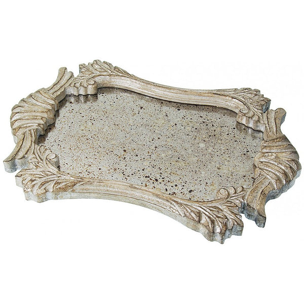 Lovecup Antiqued Mirror Wood Serving Tray L059