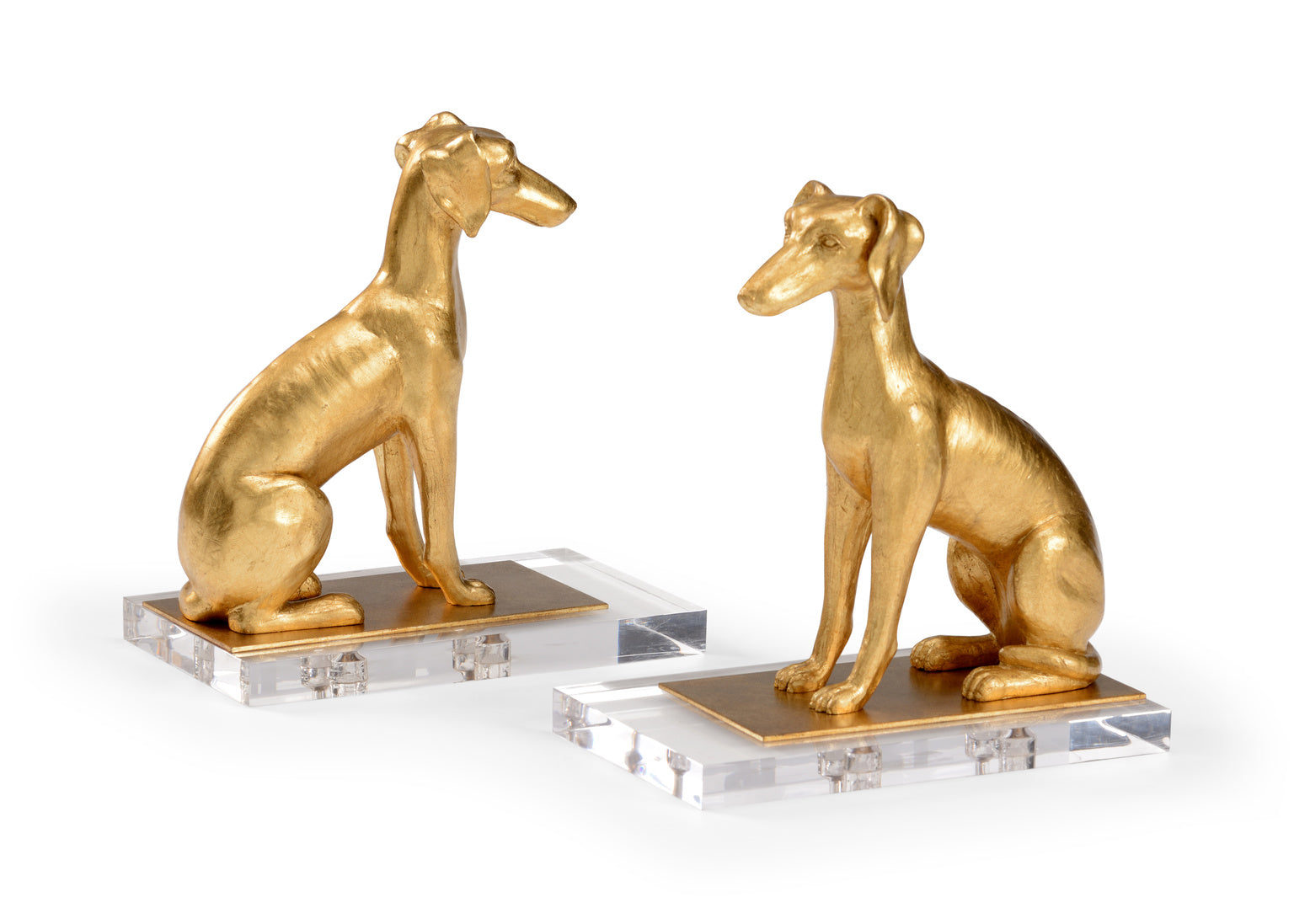 Chelsea House Flossie Bookends with Acrylic Base Pair 383545
