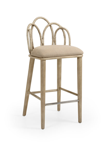 Lovecup Light Taupe Rattan Barstool L222