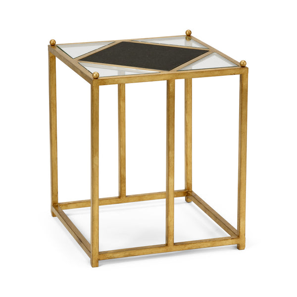 Chelsea House Harlequin Side Table - Black 383380