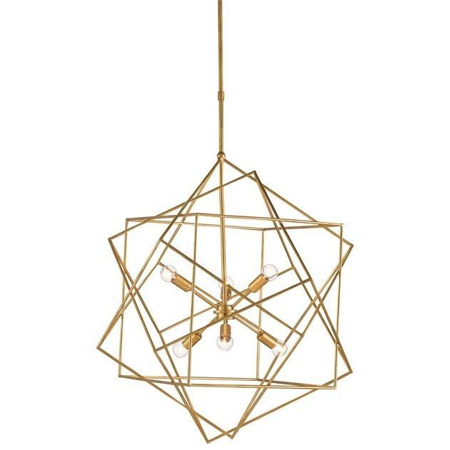 Currey and Company Aerial Chandelier, Antique Gold Leaf 9000-0069 - LOVECUP
