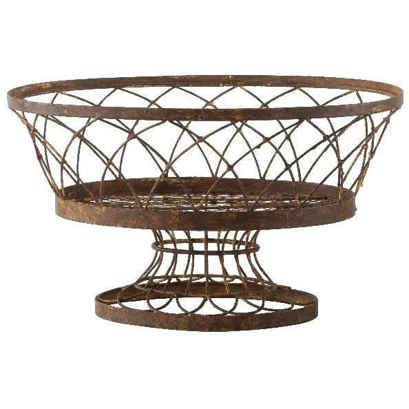 Aidan Gray Large Oval Basket, Set of 2, 7830GR