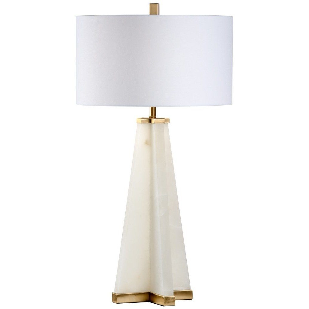 Chelsea House Alabaster Pyramid Table Lamp 69071 - LOVECUP