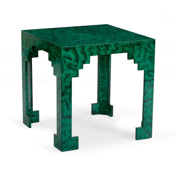 Chelsea House Malachite Cut Corner Table 382944