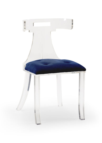 Lovecup Lara Acrylic Blue Velvet Chair L169