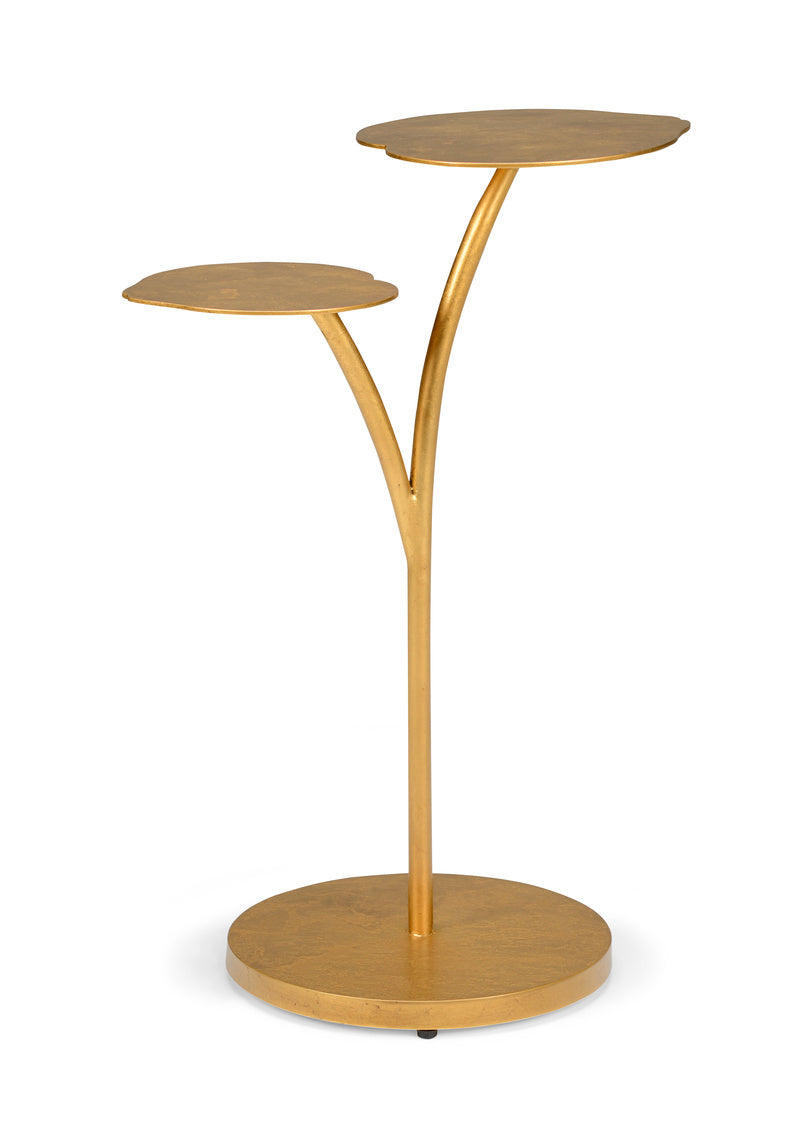 Chelsea House Leaf Side Table   Gold 383183
