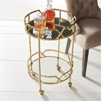 Lovecup Bamboo Tree Bar Cart L207