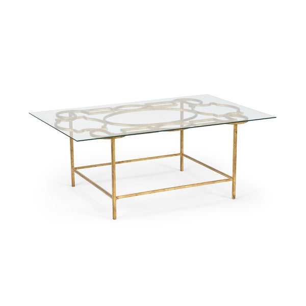 Chelsea House Tracery Cocktail Table   Gold 381689