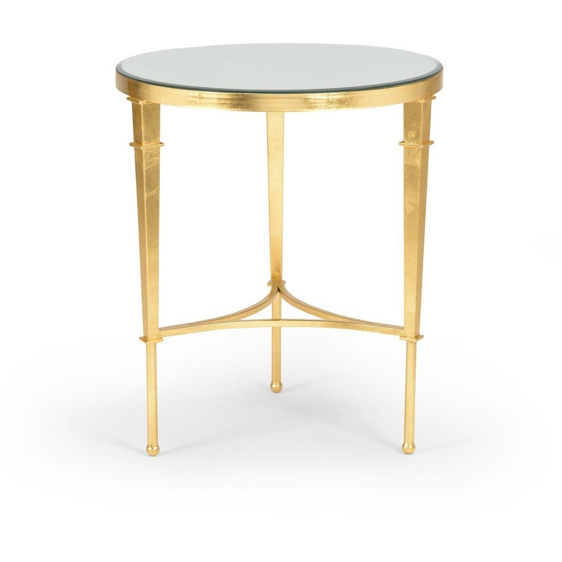 Chelsea House Round Regent Table-Gold 381864 - LOVECUP