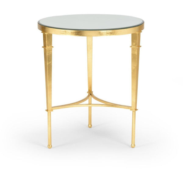 Chelsea House Round Regent Table Gold 381864