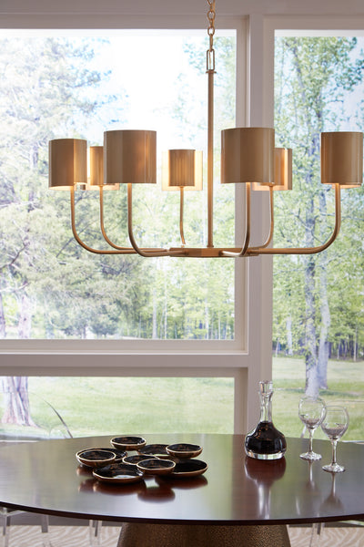 Matthew Frederick Castle Yard Chandelier - Brass 65731