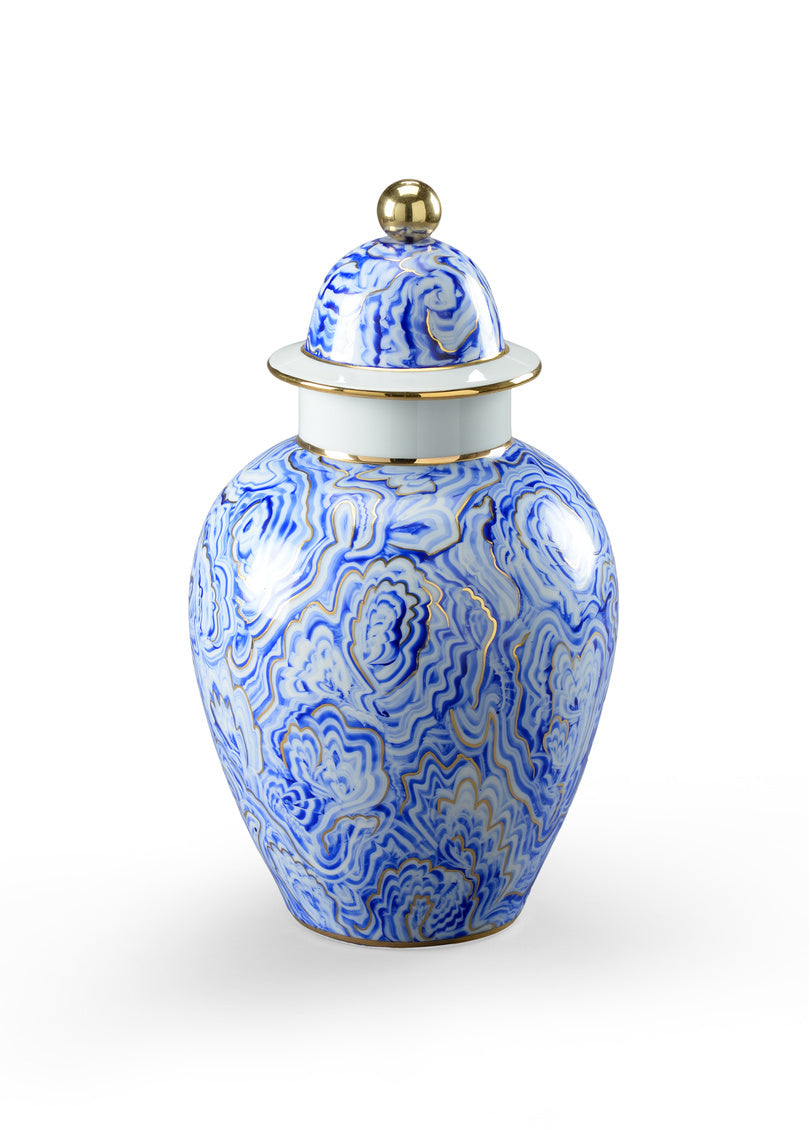 Chelsea House Marbelized Covered Urn (Sm) 382540