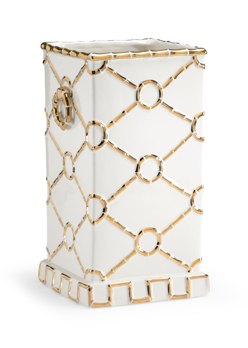 Chelsea House Square Ring Vase - Gold 382710