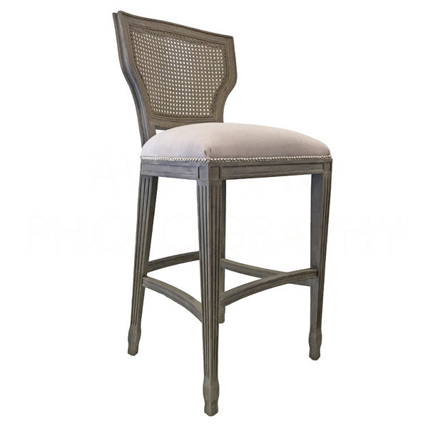 Aidan Gray Lisa Marie Bar Stool Nantucket Gray CH478 NGCL-CB