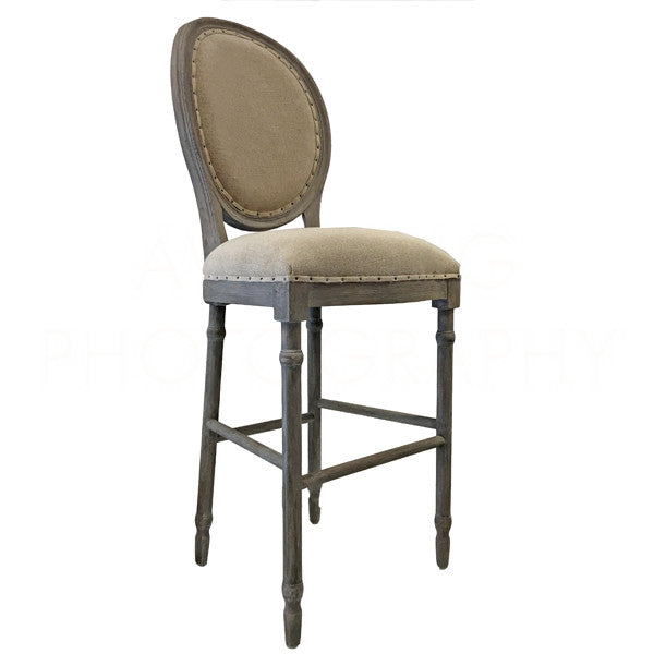 Aidan Gray Grace BAR Stool Nantucket Gray CH479 NGTL