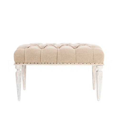 Aidan Gray Reese Small Bench in Textured Linen CH650