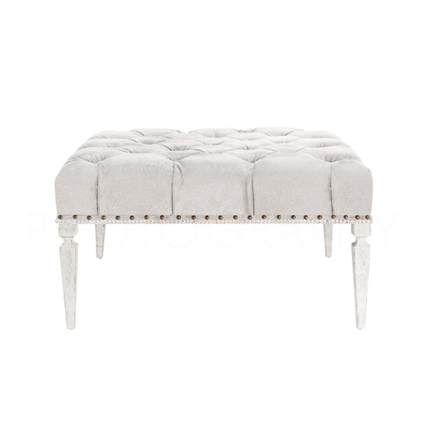 Aidan Gray Reese Medium Bench CH660 Silver Velvet