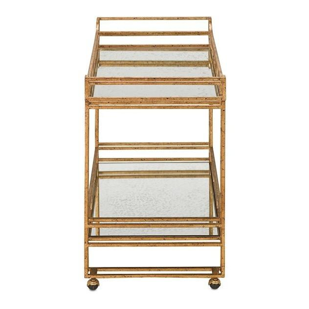 Currey and Company Odeon Bar Cart 4217 - LOVECUP - 4