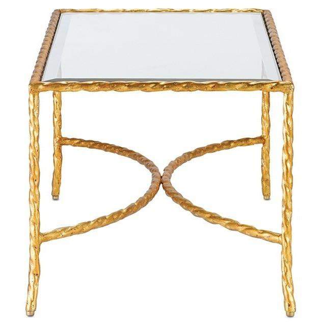 Currey and Company Gilt Twist Rectangular Table 4057 - LOVECUP - 3