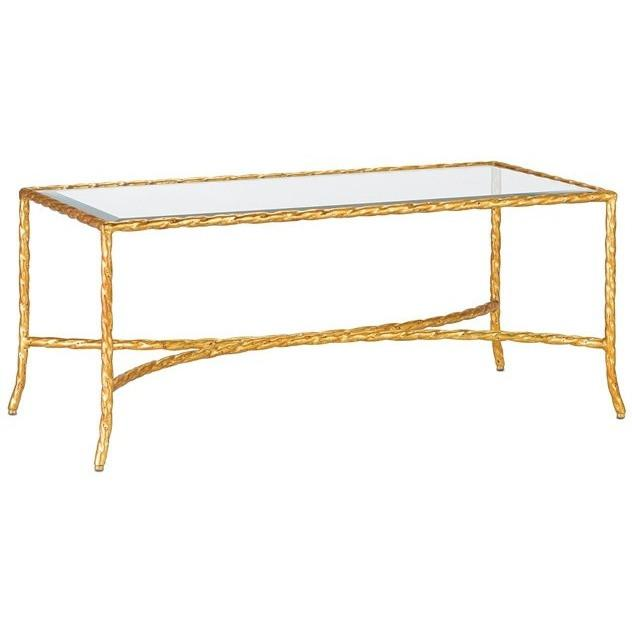 Currey and Company Gilt Twist Rectangular Table 4057 - LOVECUP