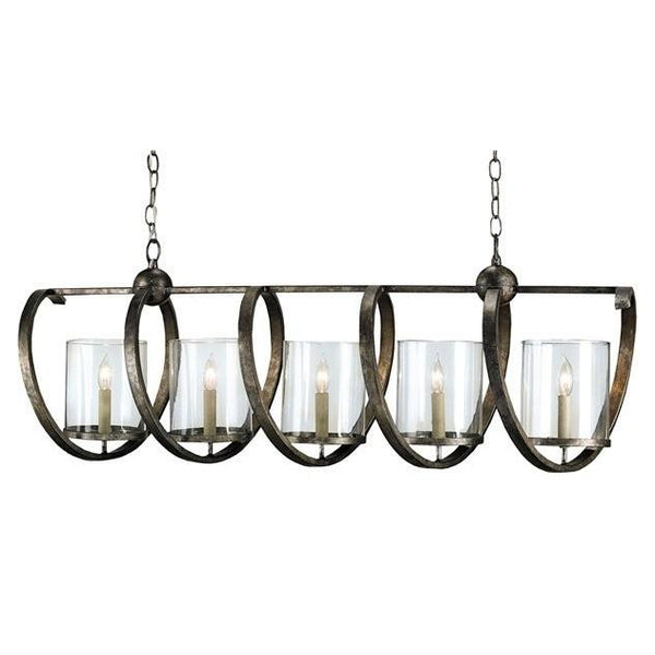 Currey and Company Maximus Rectangular Chandelier 9915