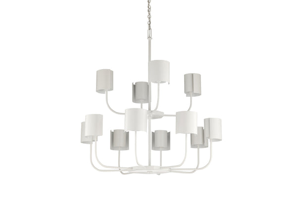Matthew Frederick Castle Yard Chandelier - White 65714C
