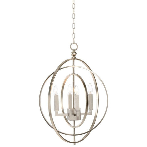 Chelsea House Round Chandelier-Silver (Sm) 68743 - LOVECUP