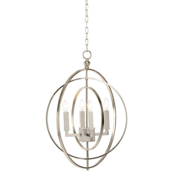 Chelsea House Round Chandelier-Silver (Sm) 68743