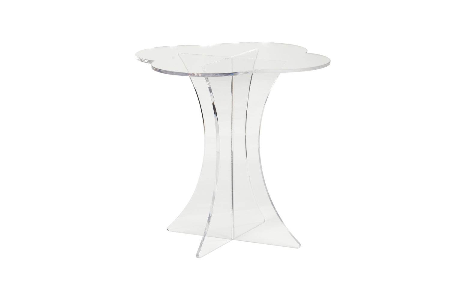 Chelsea House Scalloped Acrylic Side Table 383349