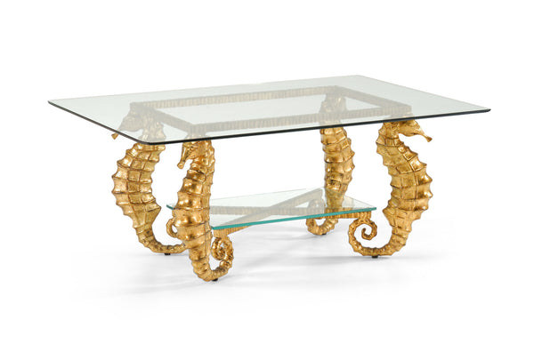 Chelsea House Seahorse Coffee Table-Gold 381335