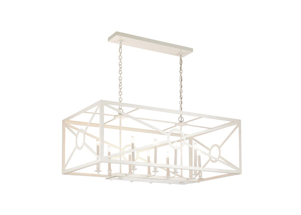 Matthew Frederick Chilton Grove  Rectangular Chandelier - White 65715
