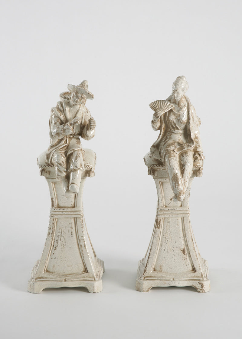 Chelsea House Chin Fig On Pesdestal-Pair 380819