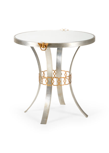 Shayla Copas Designs Bauer Side Table - Silver 384951