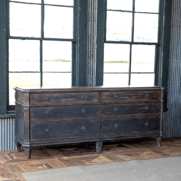 Lovecup Painted Black Credenza L464