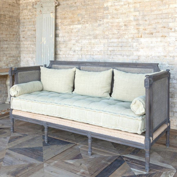 Lovecup Cane Back Daybed Porch Sofa L273