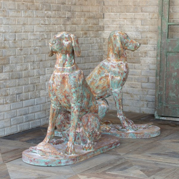 Lovecup Cast Iron Old World Hounds Pair L267